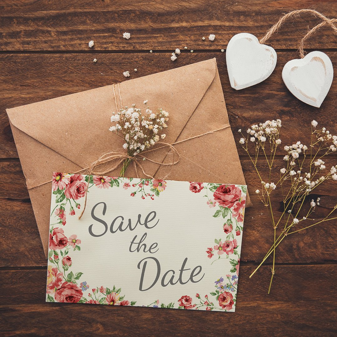 Save the Date Karte selber ausdrucken