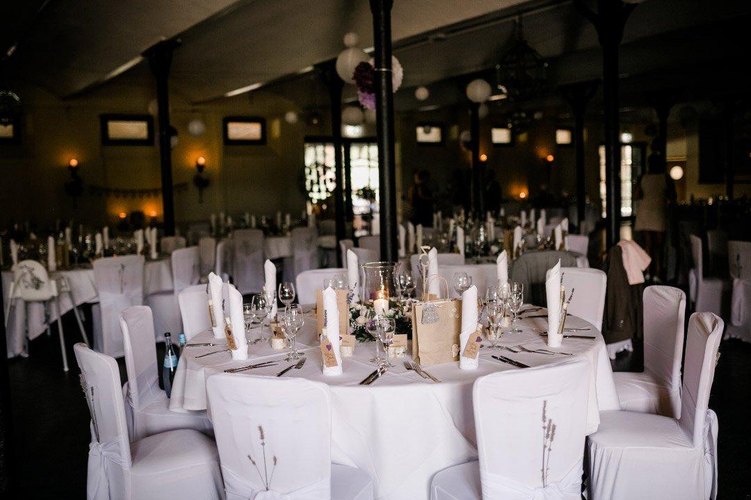 Tischdeko bei der Hochzeitsfeier im Linslerhof in Überherrn