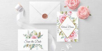 Papeterie Serie Pink Roses: Vorlagen für eure Hochzeitspapeterie