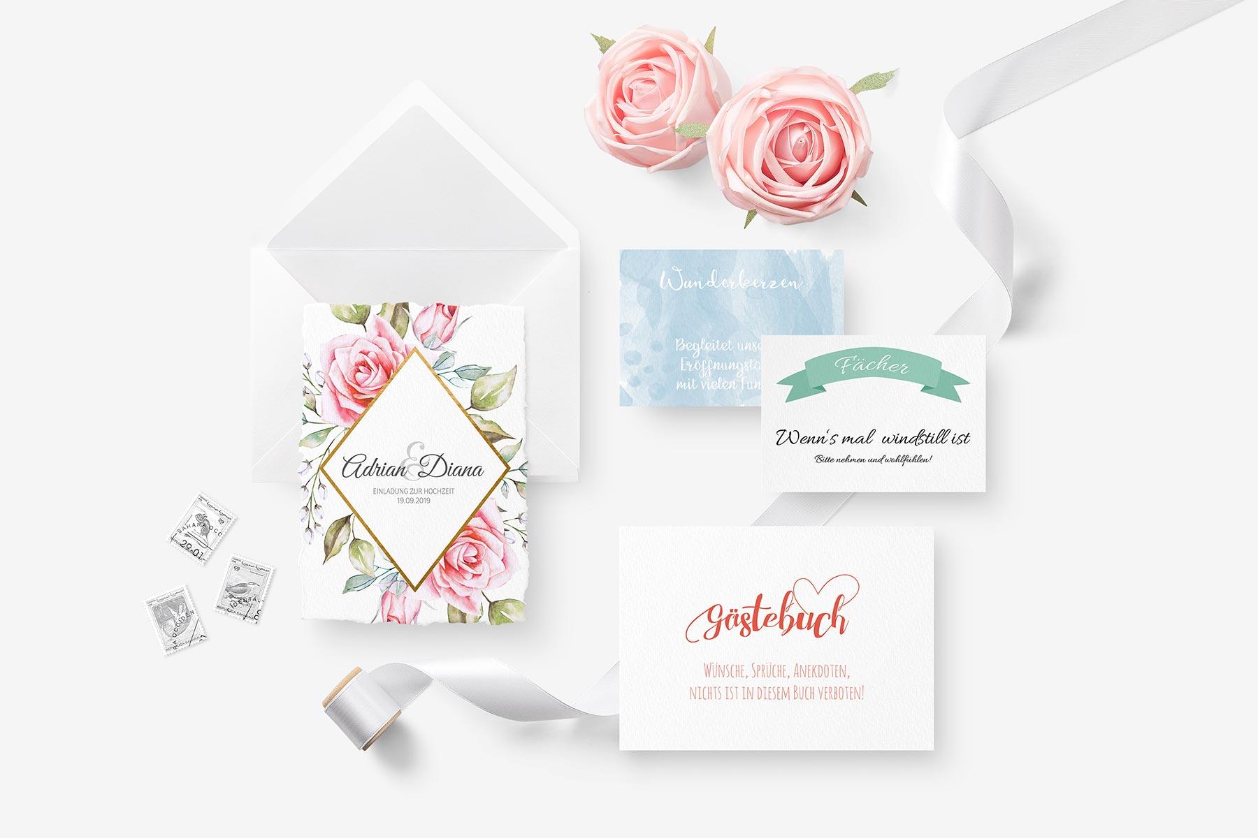 Papeterie Serien von Liebe zur Hochzeit