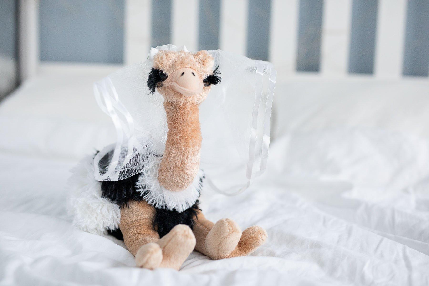 Wurfstrauss Ein Plusch Vogel Strauss Zum Brautstrauss Werfen