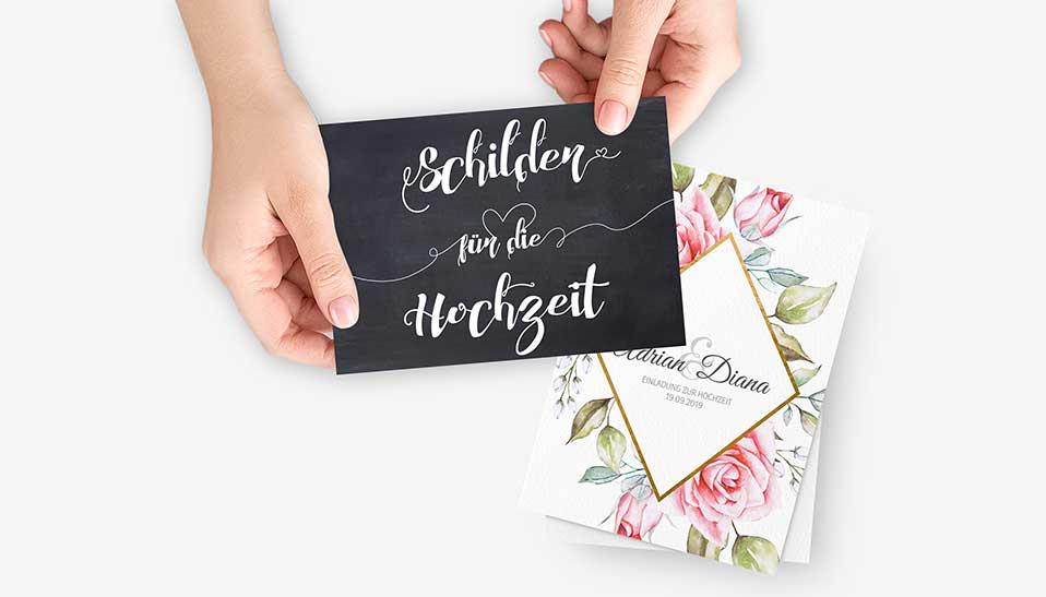 Papeterie zur Hochzeit als Freebies zum Download