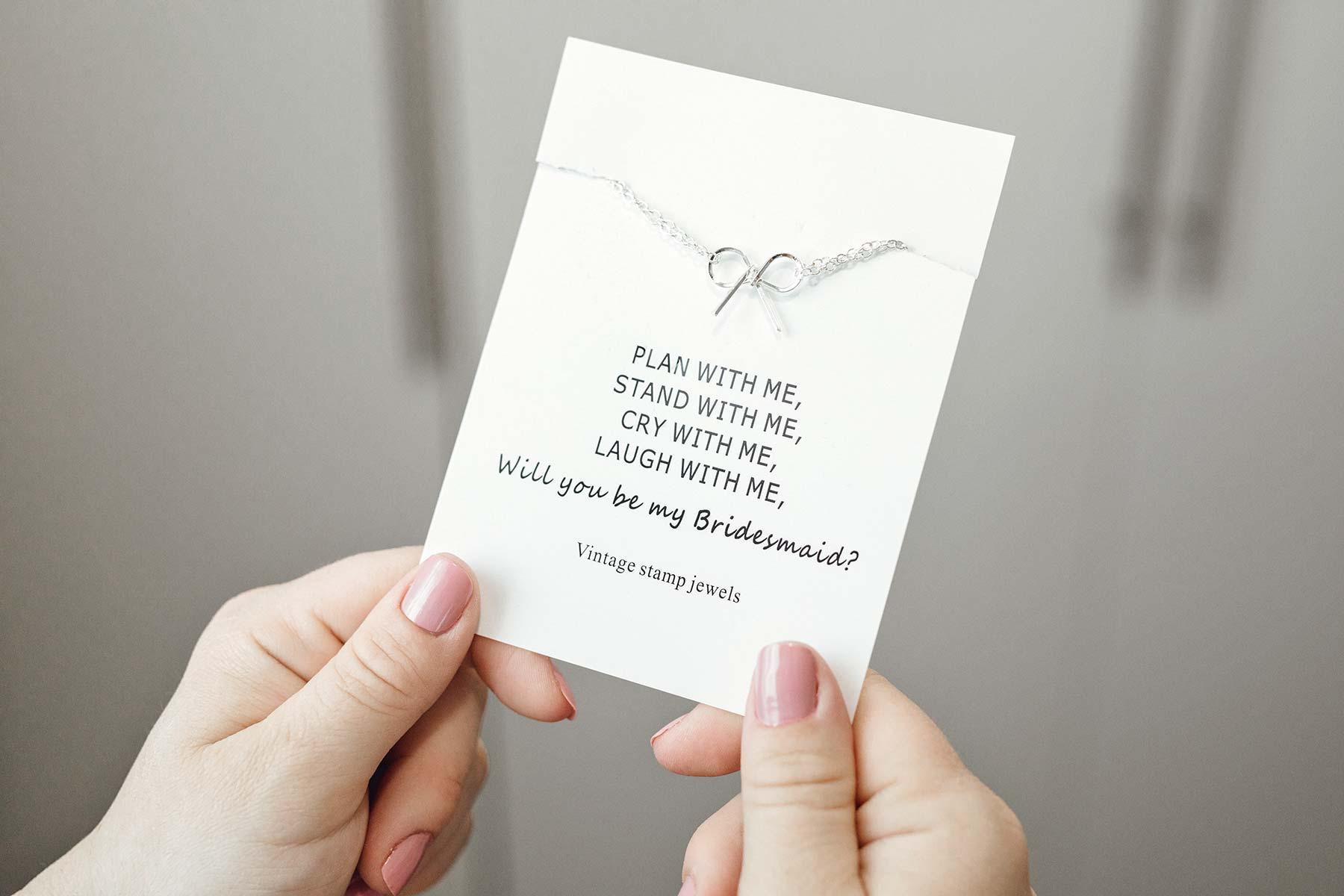 Geschenk für die Brautjungfer bestellt bei wish.com