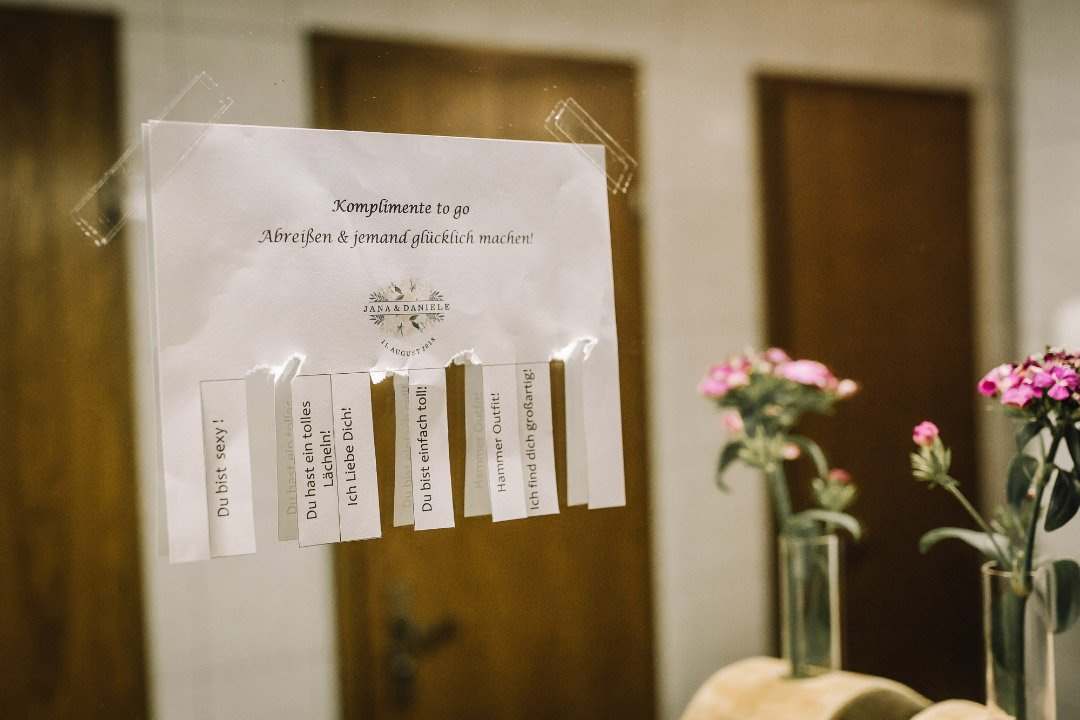 Komplimente to-go für die Hochzeit