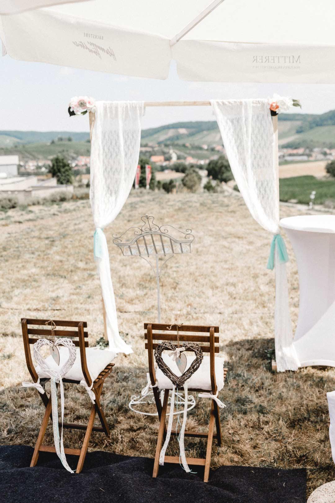 Traubogen bei der Hochzeit