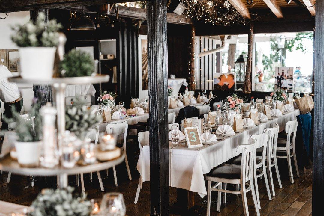 Raum für die Hochzeitsfeier in der Heuchelberger Warte