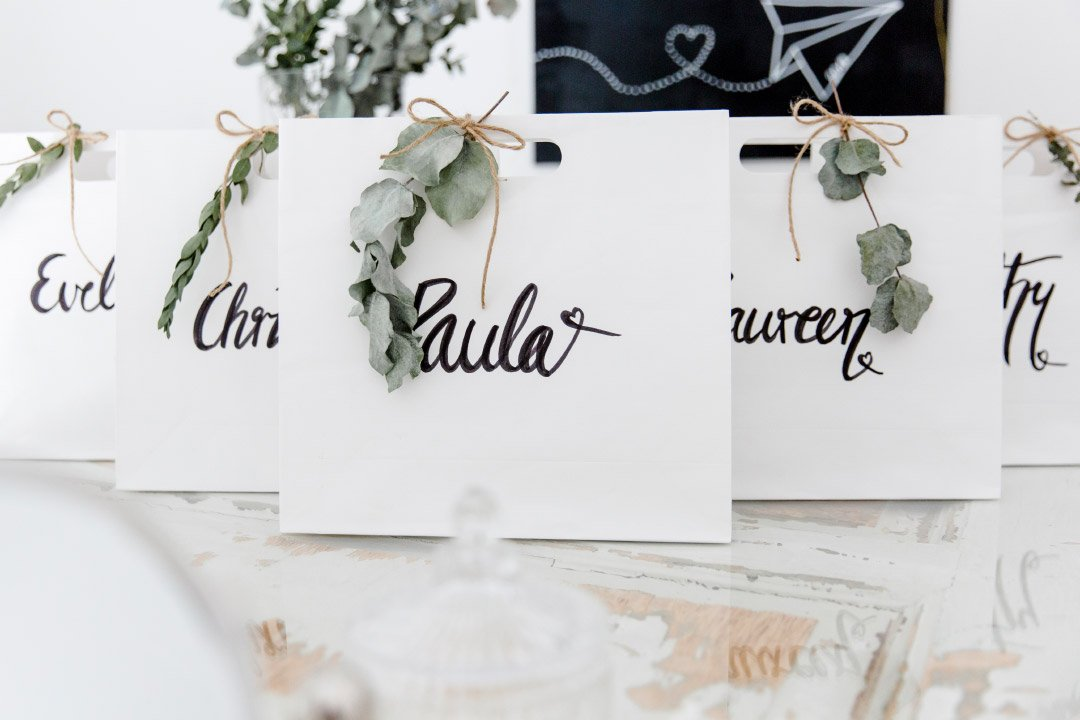 Geschenktüten als Dankeschön für manche Gäste der Hochzeit