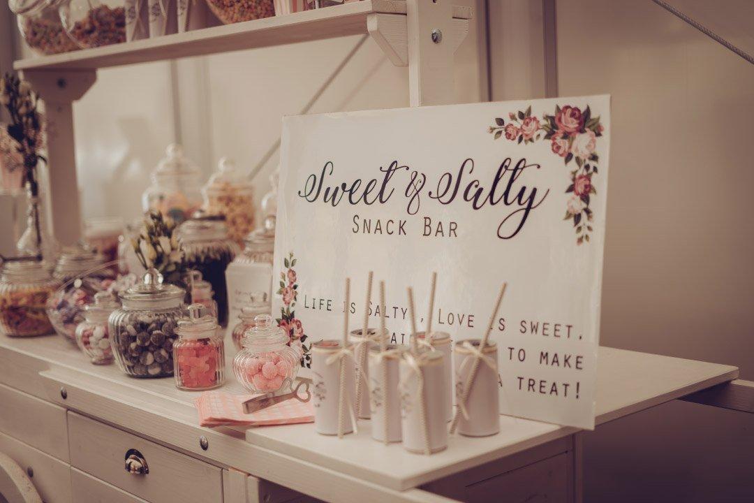 Sweet and Salty Bar bei der Hochzeit