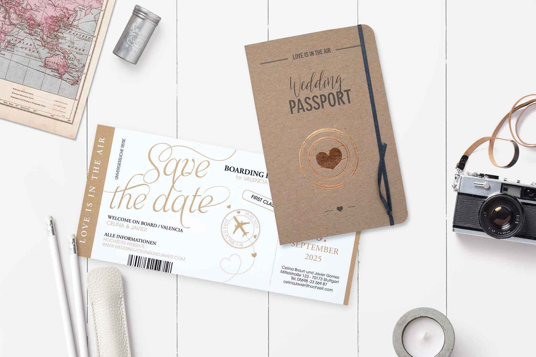 Papeterie zur Hochzeit von Tadaaz: klassisch, originell oder mit Kraftpapier
