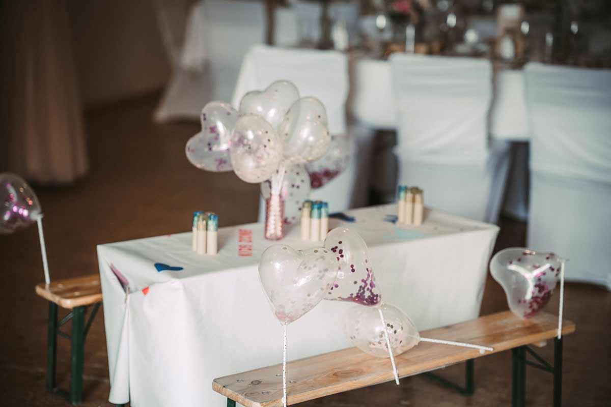 Kindertisch bei der Hochzeit