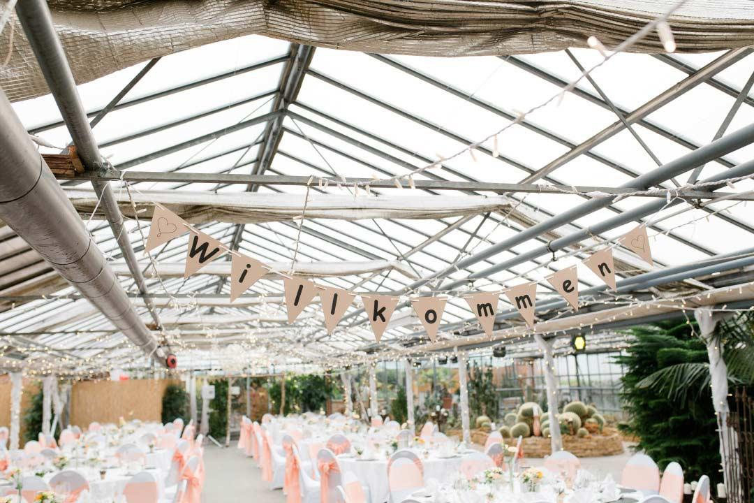 Hochzeit im Gewächshaus Biodom Esslingen