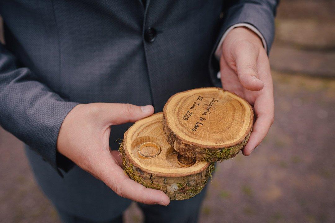 Ringbox aus Holz