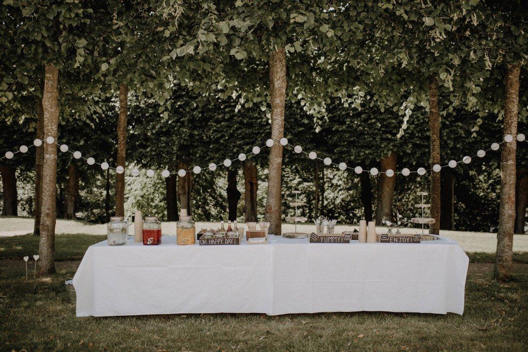 Getränkebar bei der Hochzeit