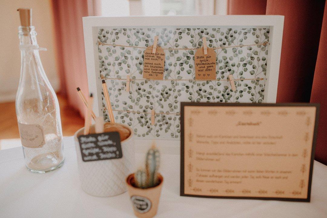 Alternatives Gästebuch bei der Hochzeit