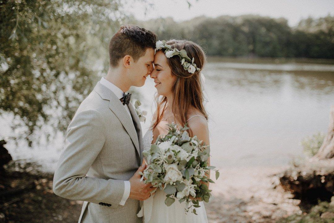 Brautpaar beim Fotoshooting