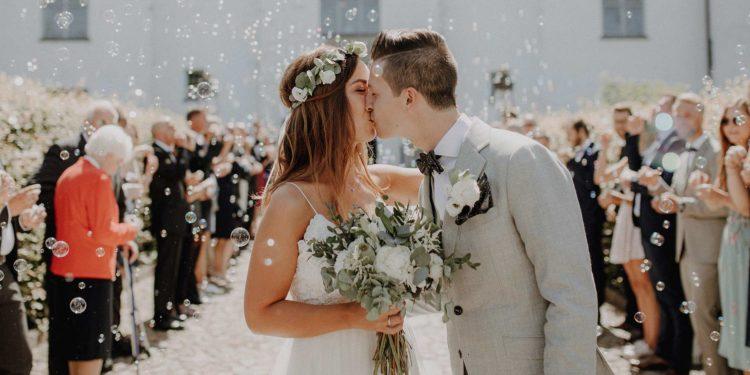 Schlichte und natürliche DIY Vintage Hochzeit