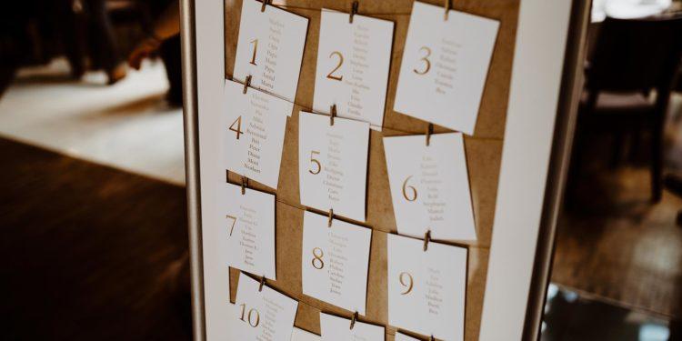 Sitzordnung / Sitzplan zur Hochzeit erstellen