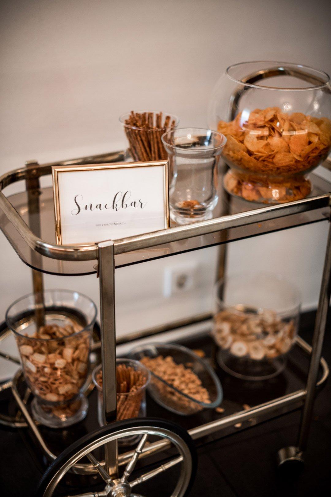 Snackbar bei der Hochzeit
