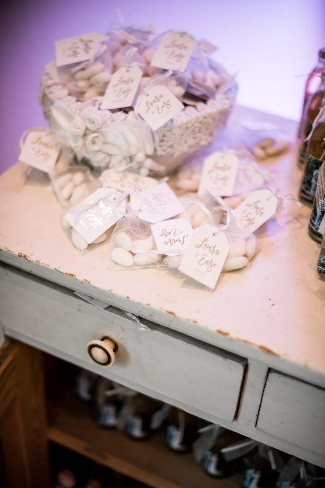 Hochzeitsmandeln im Organzasäckchen
