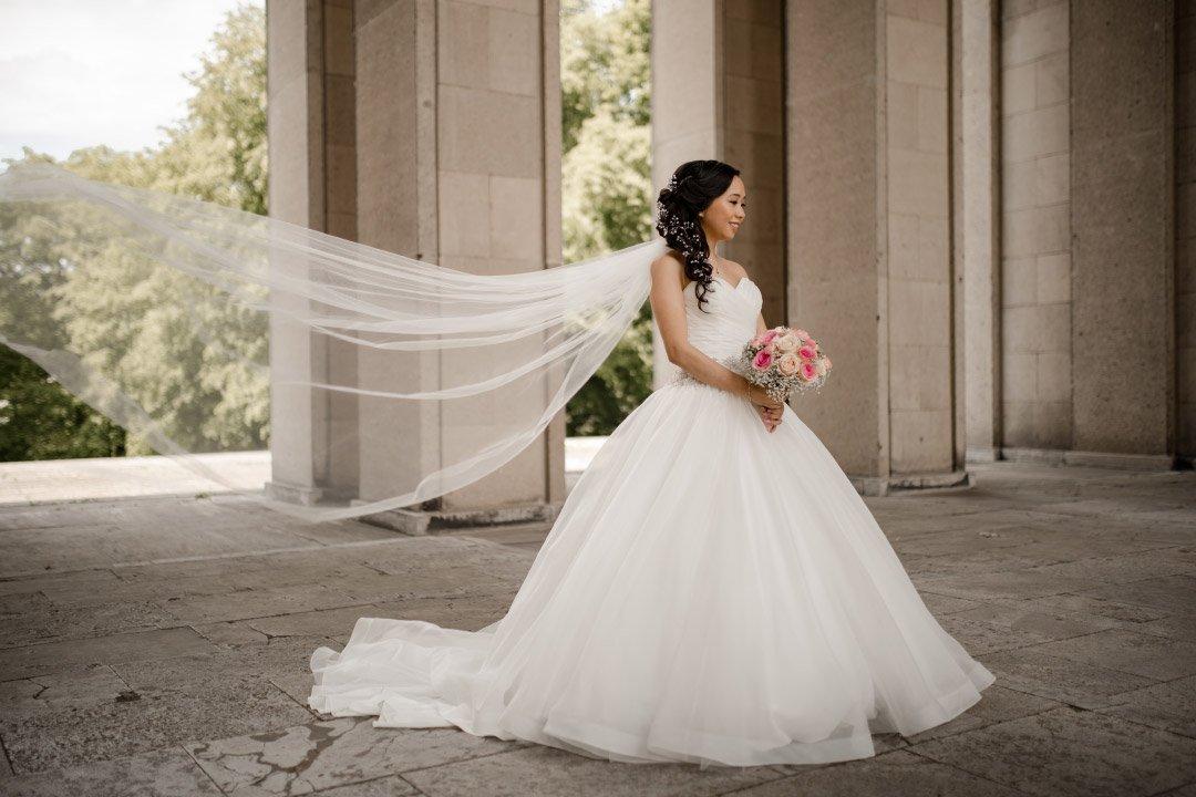 Fliegender Schleier der Braut