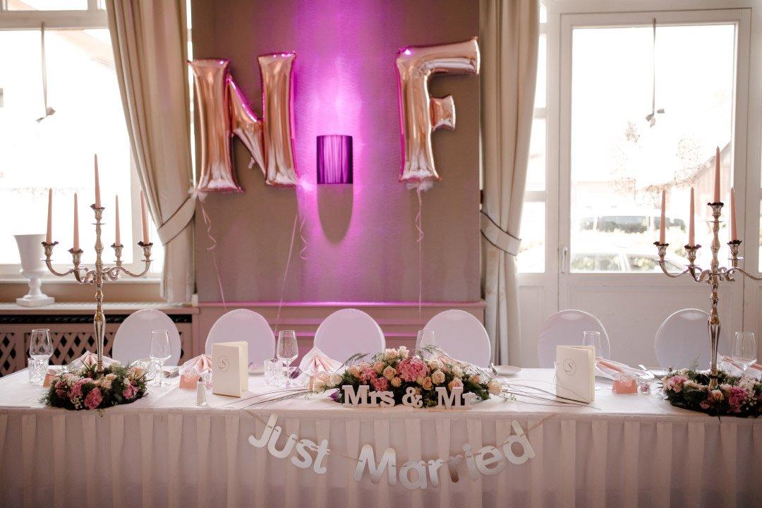 Brautpaar Tisch
