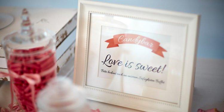 Candy Bar Schild kostenlos herunterladen & ausdrucken