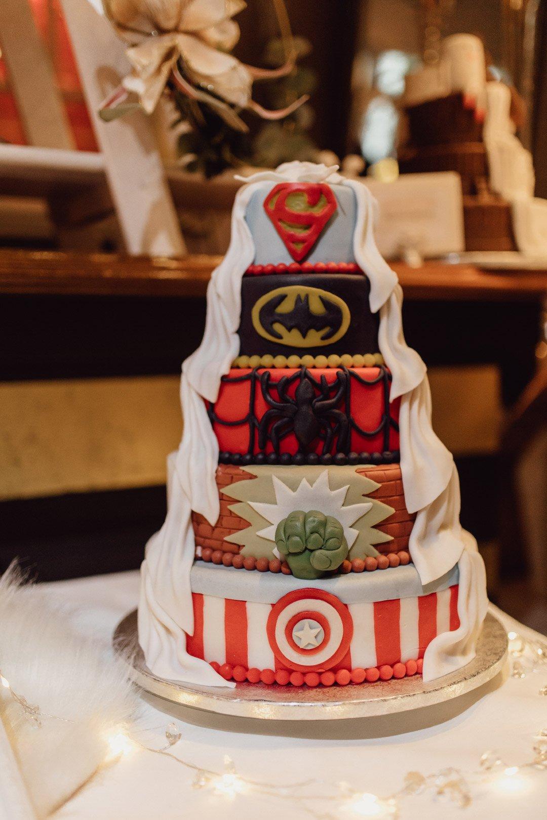 Superhelden Hochzeitstorte
