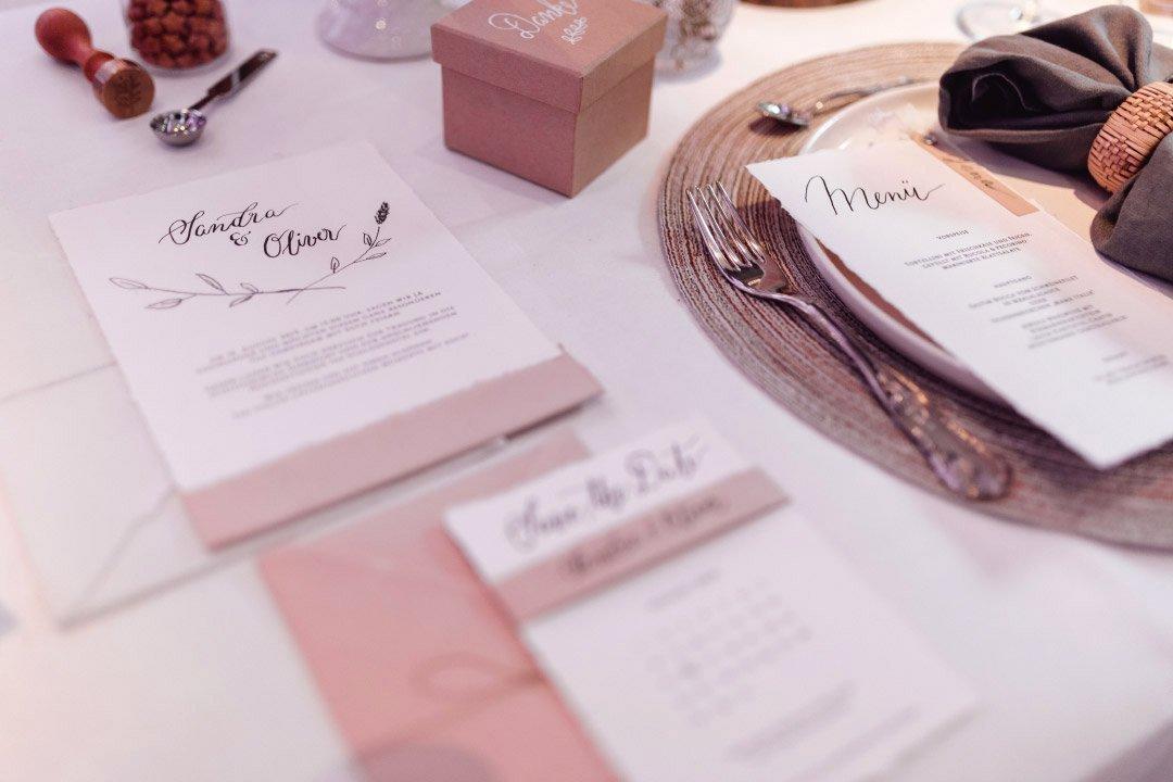 Papeterie bei der Hochzeitsmesse Hattingen heiratet