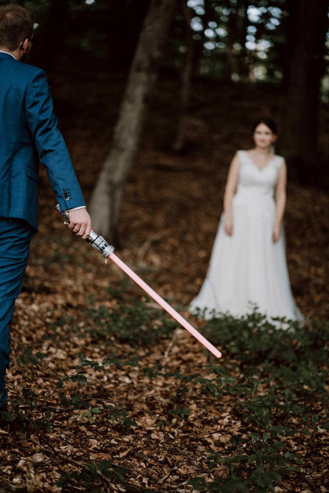 Paarshooting mit Star Wars Laserschwert