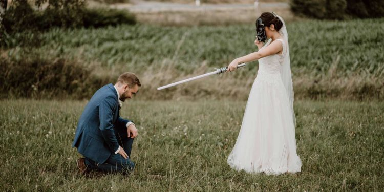 Vintage-Hochzeit mit ein klein bisschen Star Wars!