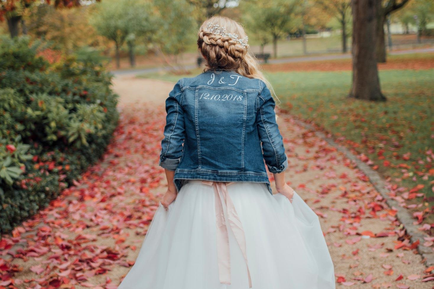 Brautkleid für jeans jacke Boleros und