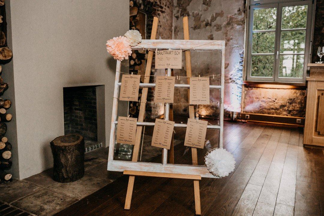 DIY Sitzplan bei der Hochzeit