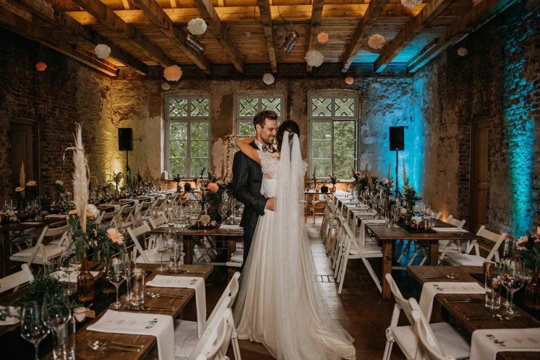 Raum für die Hochzeitsfeier im Rittergut Orr