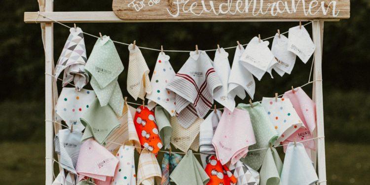 Nachhaltige Taschentücher für Freudentränen bei der Hochzeit