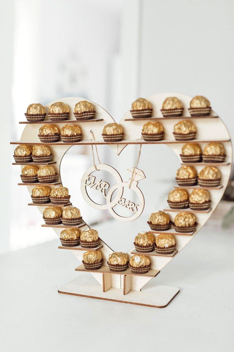 Rocher Herz für die Candybar bei der Hochzeit