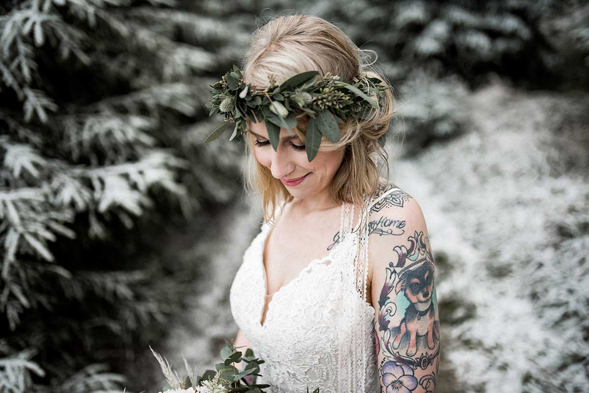 Braut mit Flowercrown