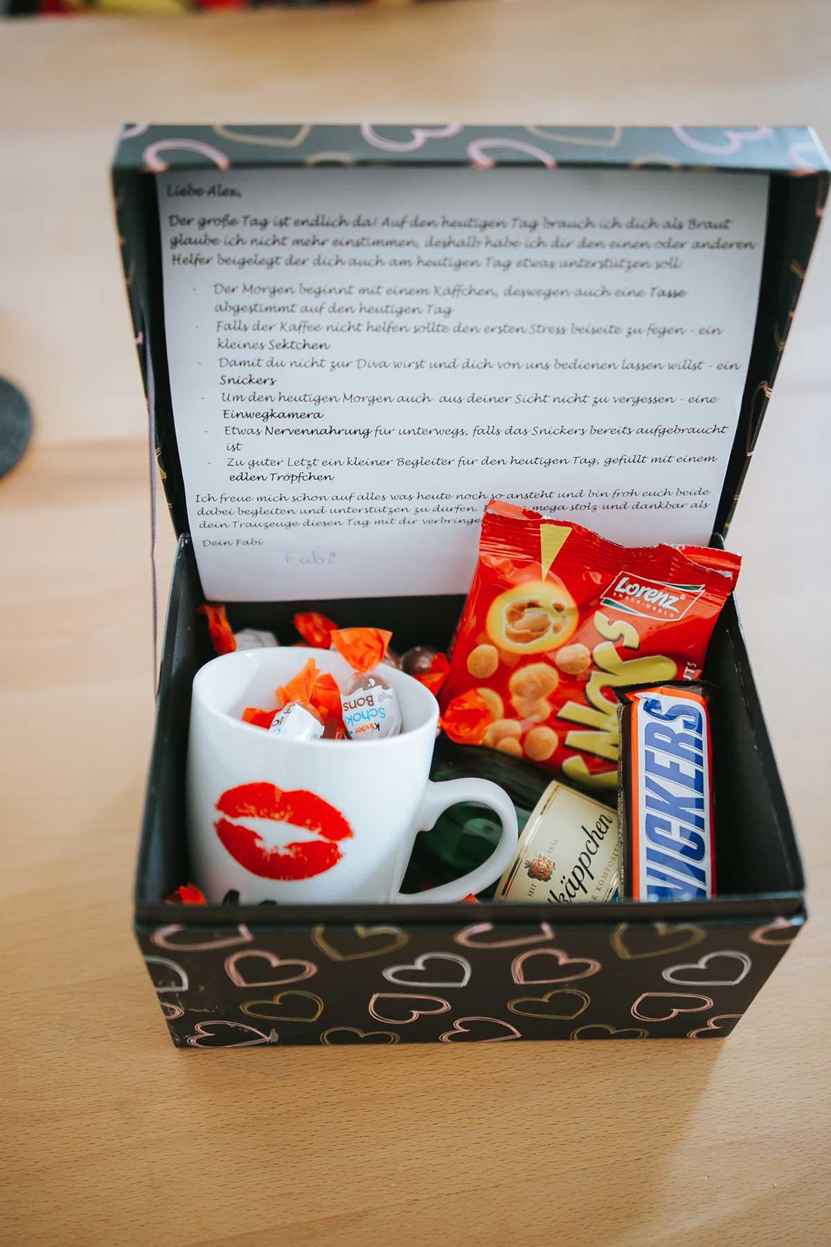 Notfallbox für den Bräutigam als Geschenk