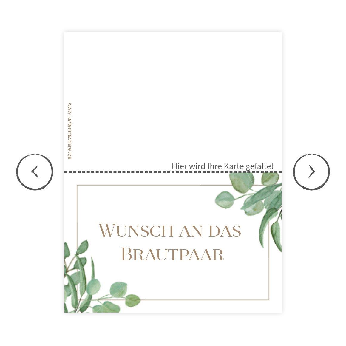 Wunschkarten für das Brautpaar von der kartenmacherei