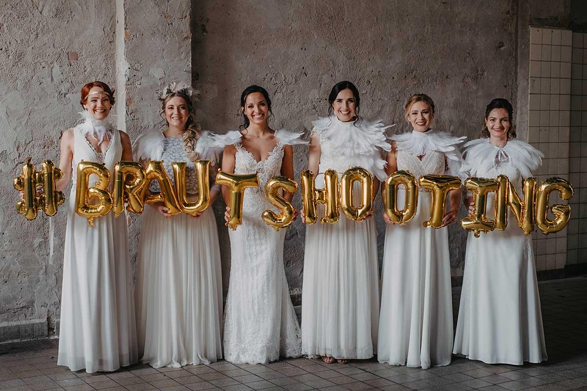 Federleichte Hochzeitsinspiration beim Brautshooting 2020