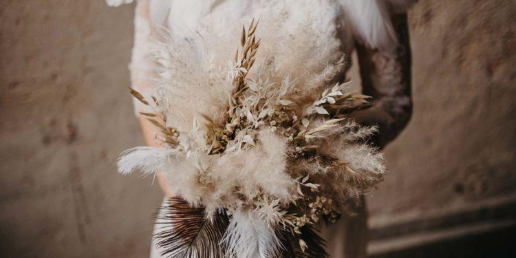Trockenblumen für die Hochzeit: für den Brautstrauß und als Tischdeko