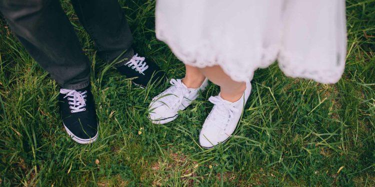 Braut Sneakers: die sportliche Variante der Brautschuhe