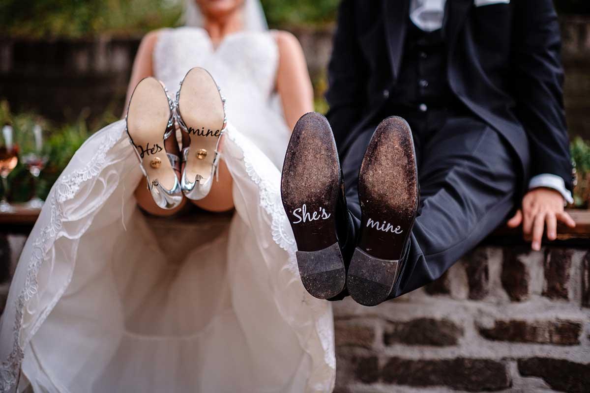 Schuhsticker für Braut und Bräutigam