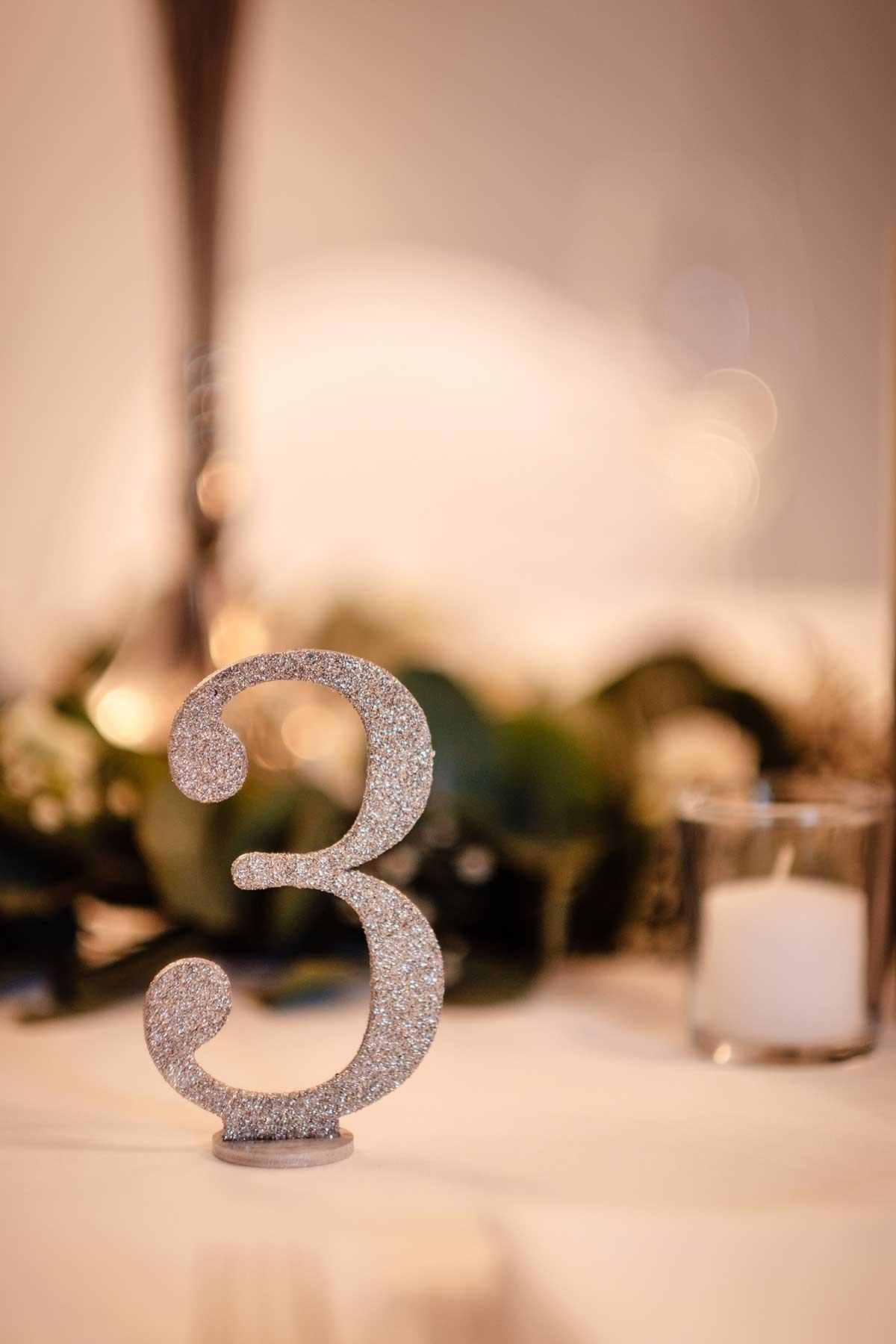Tischnummer in Silber