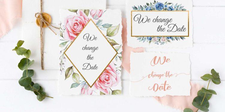 Hochzeit verschieben: Text-Vorschläge und Freebie