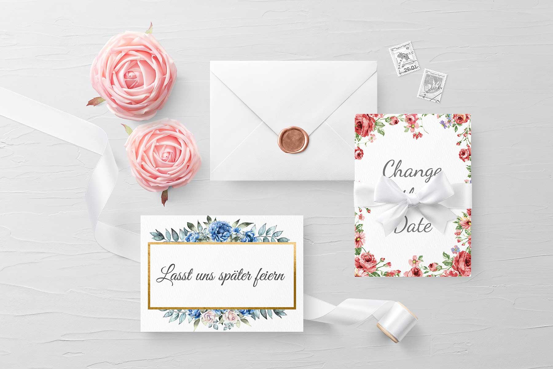 Karten zur Hochzeit als Freebie zum Download