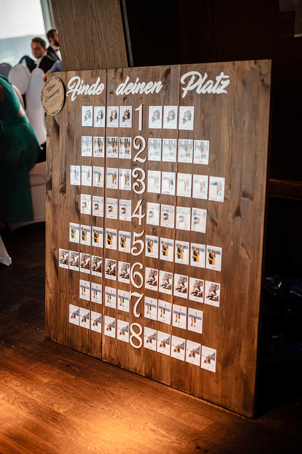 Sitzplan bei der Hochzeit mit Magnete