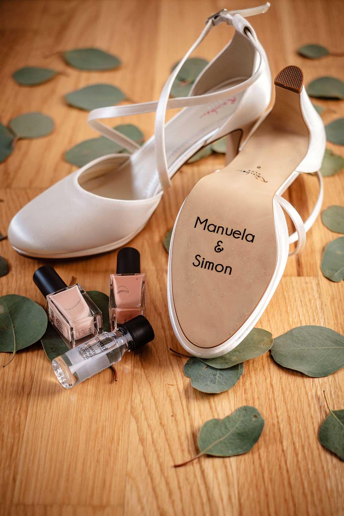 Brautschuhe mit Schuhsticker