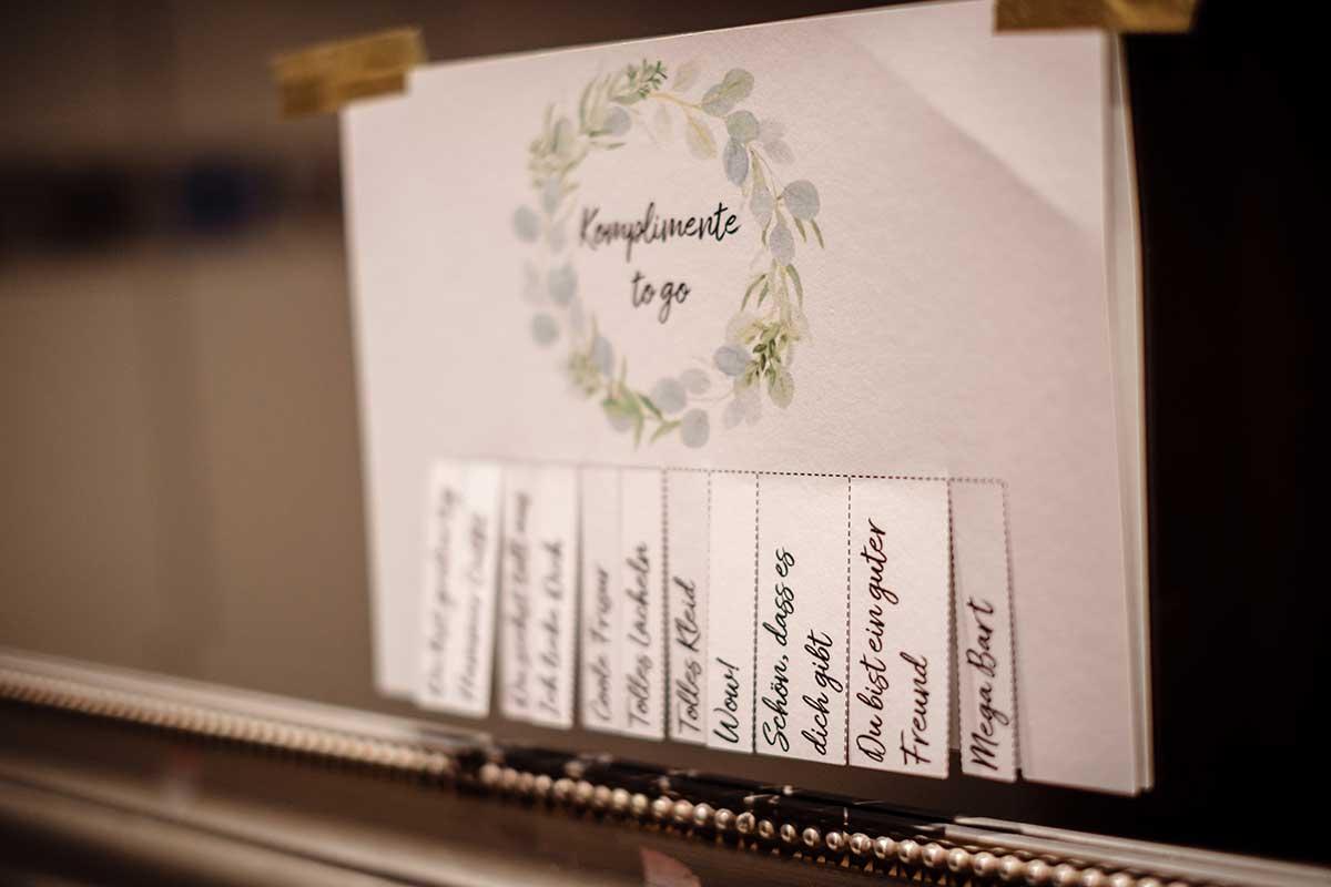 Komplimente to go bei der Hochzeit