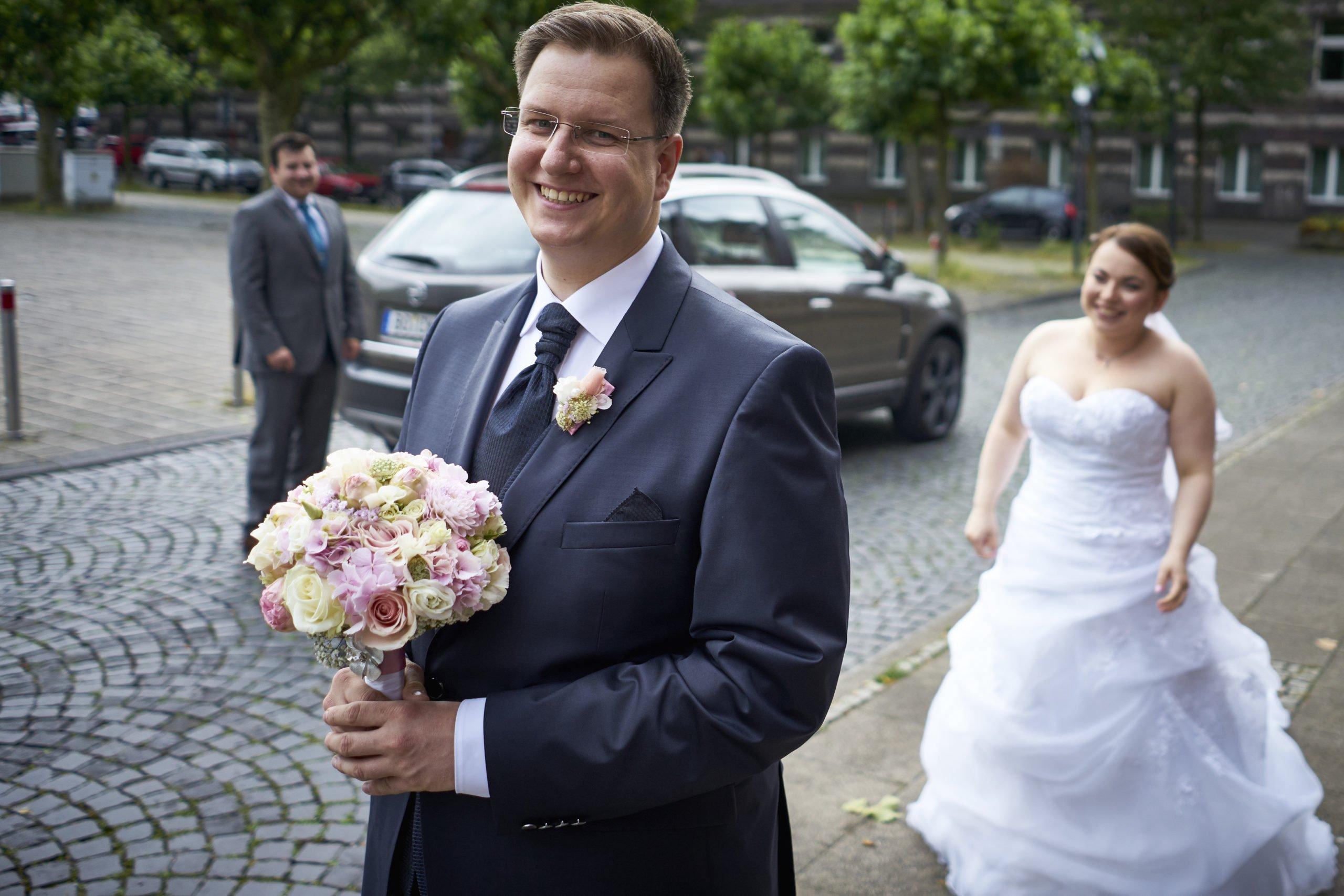 First Look am Tag unserer Hochzeit