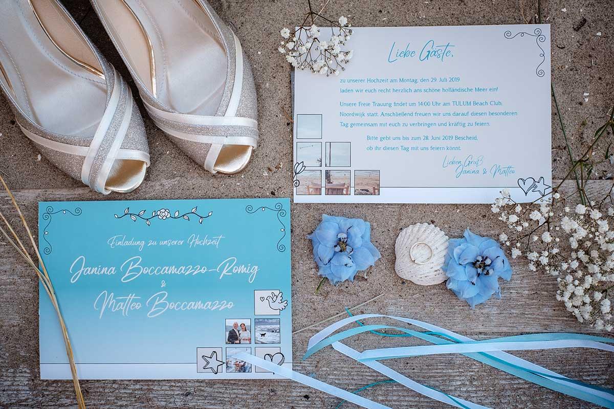 Papeterie passend zur Hochzeit im maritimen Stil